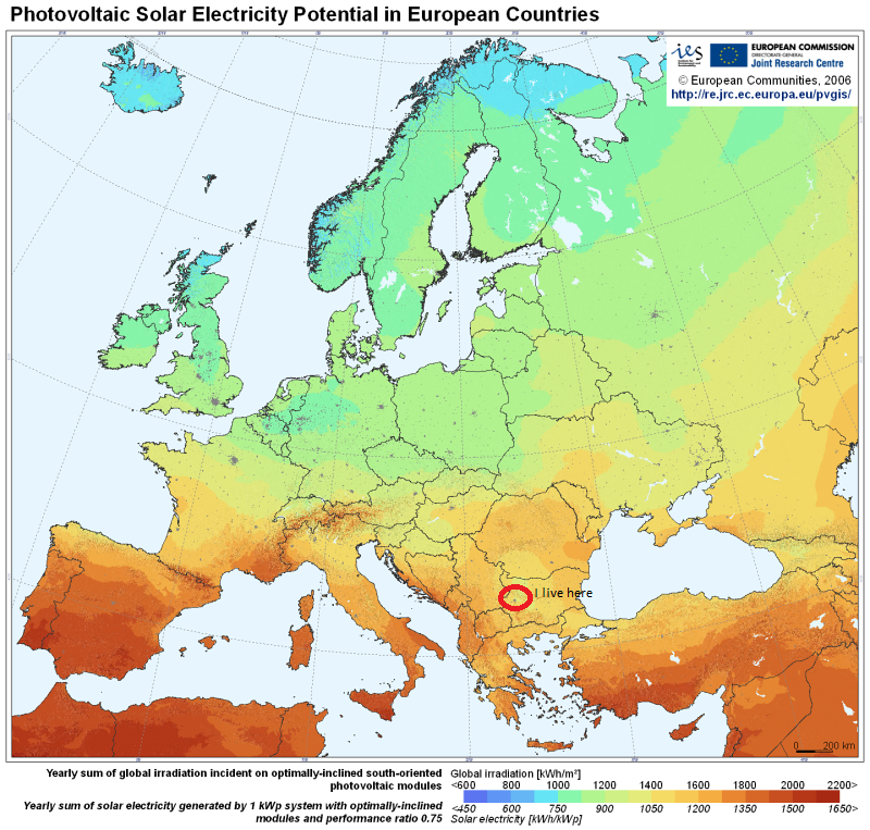 Šúri M., Huld T.A., Dunlop E.D. Ossenbrink H.A., 2007. Potential of solar electricity generation in the European Union member states and candidate countries. Solar Energy, 81, 1295–1305, http://re.jrc.ec.europa.eu/pvgis/