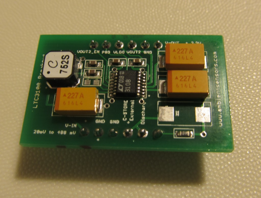 Using the LTC3108 breakout board with a solar cell