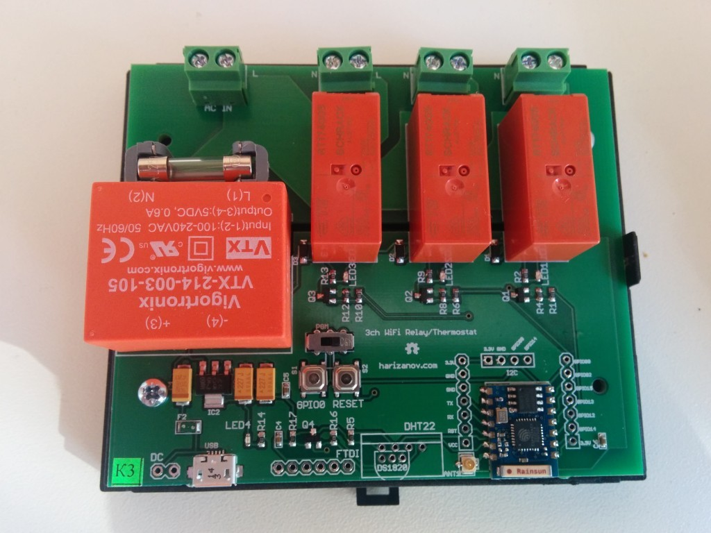 Three Channel Wifi Relay Thermostat Board Martins Corner On The Web Electrical Wiki Firmware