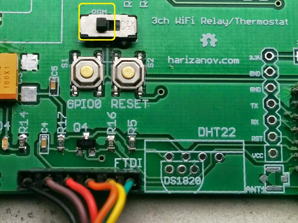 Three Channel Wifi Relay Thermostat Board Martins Corner On The Web Current Sensing Wiki Esp8266 Firmware Update Mode