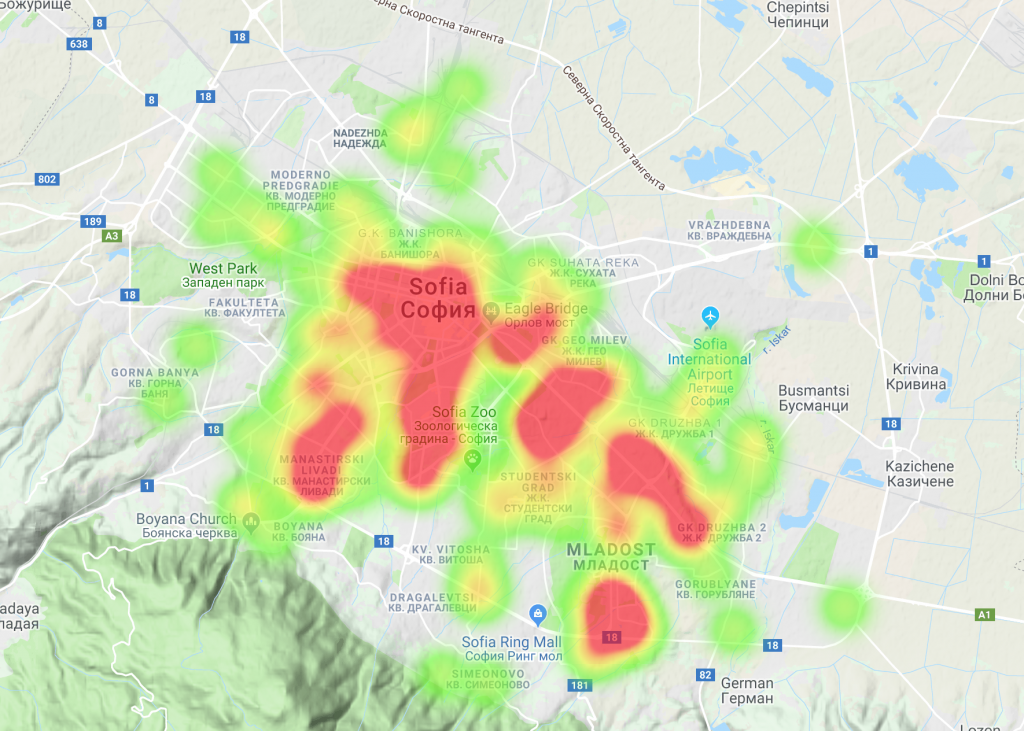 Where are the IT jobs in Sofia located?